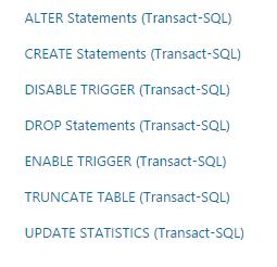DDL vs DML SQL Server DDL