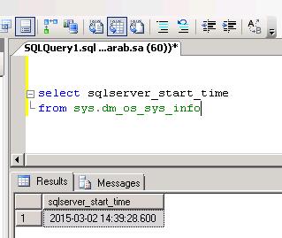 How to Find Last Time SQL Server Restarted