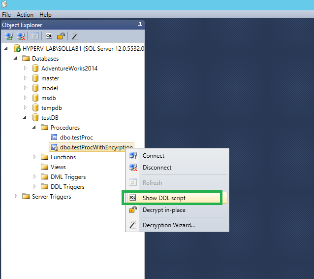 dbForge SQL Decryptor Screenshot 3