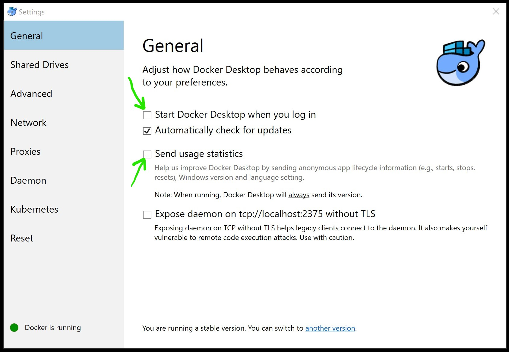 Docker Desktop for Windows