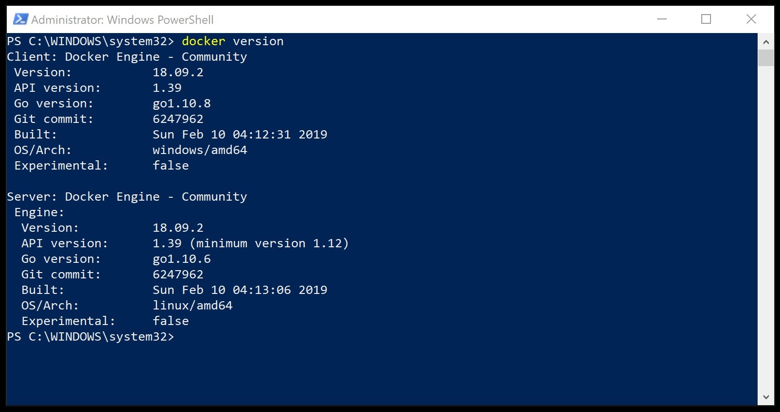 Docker Desktop for Windows