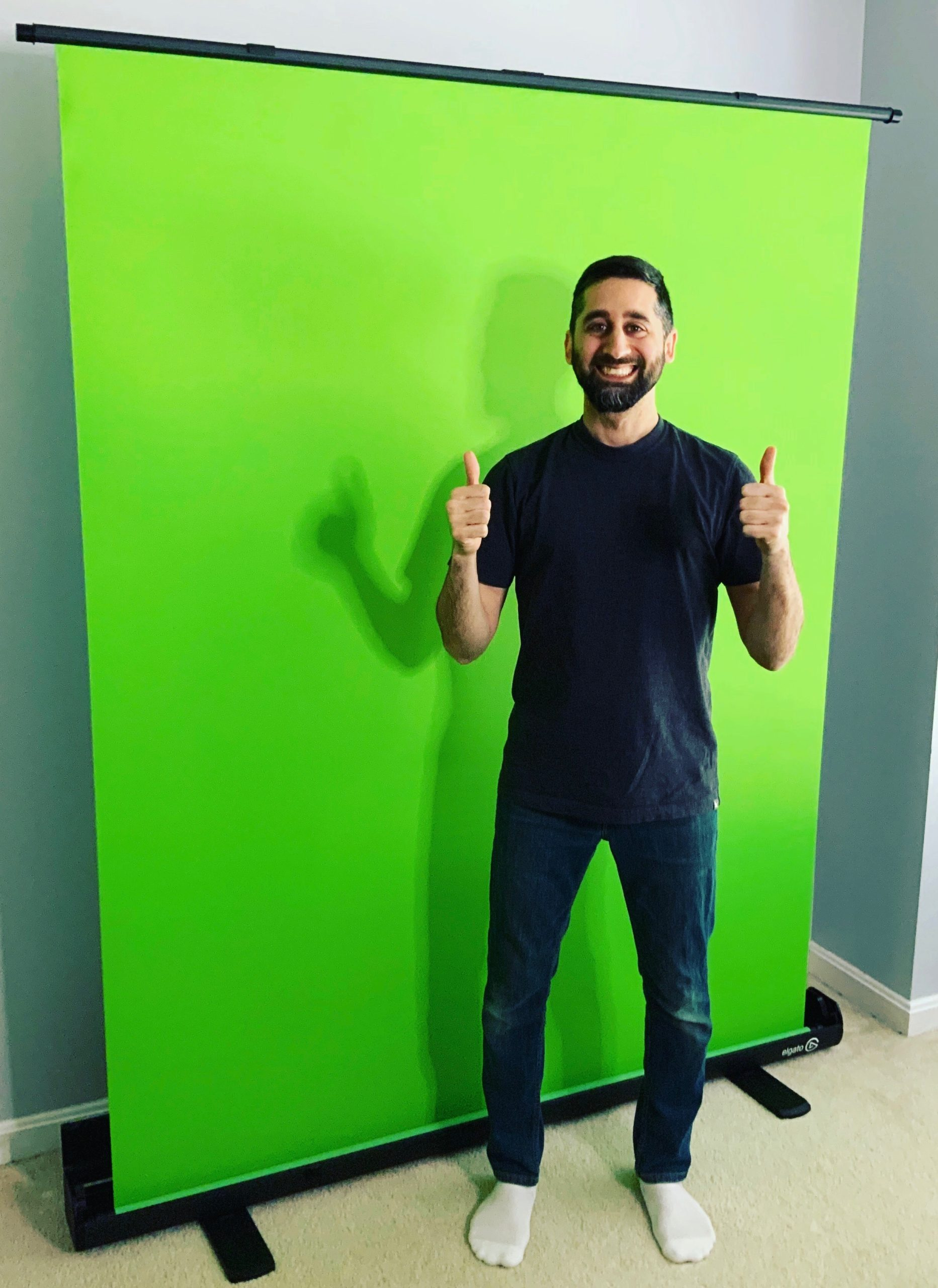 Me and the green screen