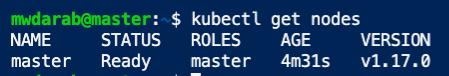 kubectl get nodes