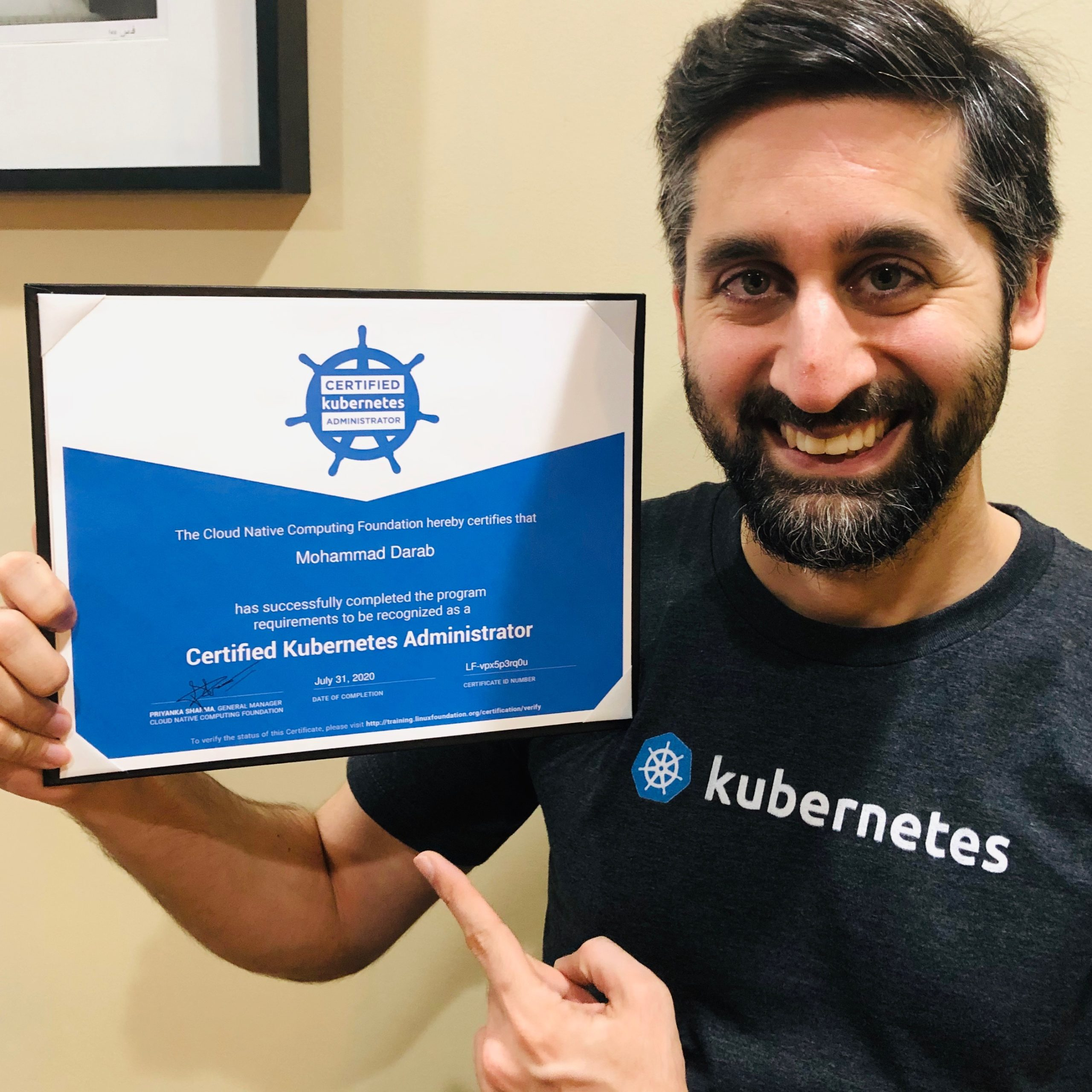 Mohammad Darab Kubernetes Certified Administrator