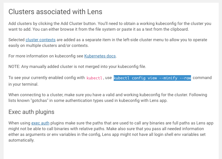 Clusters associated with Lens